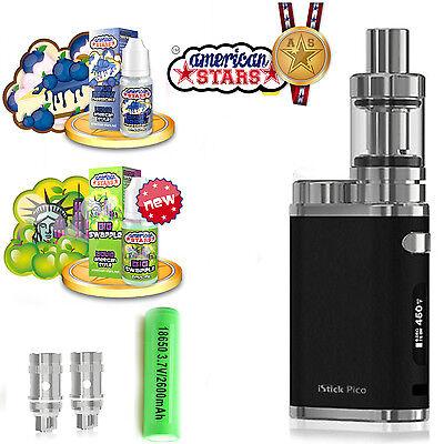 Starter Set SC Eleaf I Stick Pico E Zigarette Dampfer Sony VTC 5 Liquid Schwarz  (Dampfer Set)