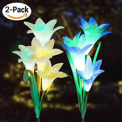 1/2 PC Solar Powered Lily /Rose Flower Lights For Yard Garden Outdoor Lamp Decor](Lights For Decorations)