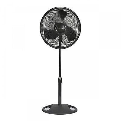 "16"" Adjustable Oscillating Pedestal Fan Stand Floor 3 Speed"