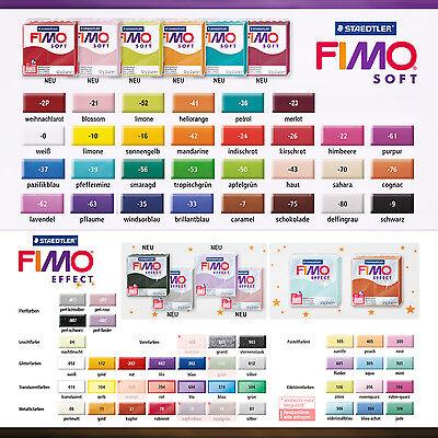 FIMO Modelliermasse - Knete ~~Soft + Effect~~ 57g Block alle Farben frei wählbar