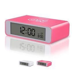 Flip Travel Alarm Clock Kids Alarm Clock with Snooze and Touch Sensor