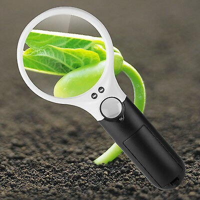 Magnifier With Light - 45X Magnifying Glass with Light Handheld Magnifier Magnifying Glass Lens