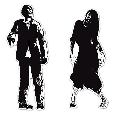 Zombie Silhouettes Halloween Hanging Door Wall Party Decoration (Zombie Silhouettes)