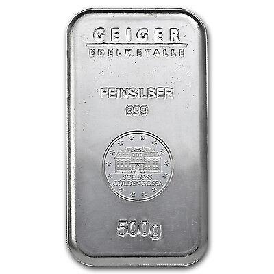 500 gram Silver Bar - Geiger (Security Line Series) - SKU #74693