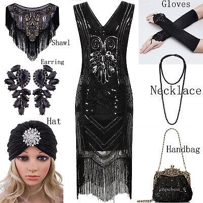 Vintage 1920s Flapper Dress Gatsby Black Gatsby Party Womens Clothing Plus Size - Gatsby Attire For Women