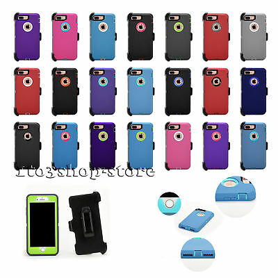 iPhone 7 & iPhone 8 Rugged Hard Case w/Holster Belt Clip Fits Otterbox Defender