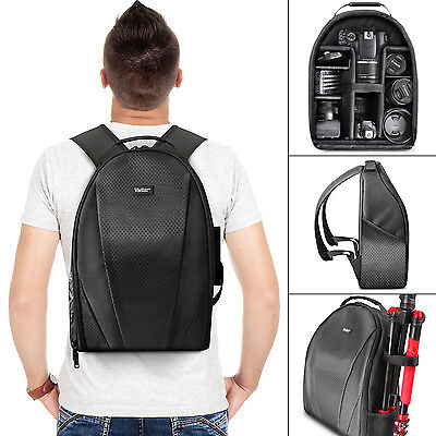 Vivitar Camera Backpack Bag for DSLR and Lens - Padded Case for Canon Nikon Sony