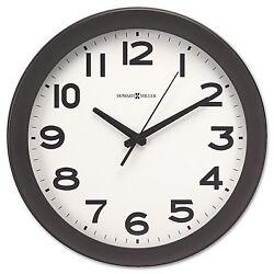 New Round 13-1/2 Wall Clock Black takes 1 AA Battery Howard Miller Kenwick