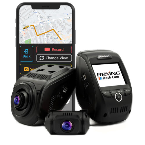 Rexing V1P Pro Car Dash Cam Dual 1080p Full HD Front and Rear 170° Wide Angle