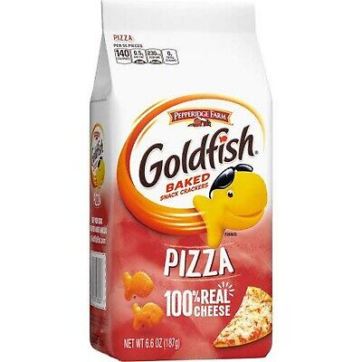 Goldfish Crackers, Baked Snack, Pizza, 6.6 Oz. (Pack of 4)