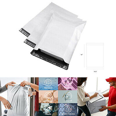 200 White Poly Mailers Envelopes Shipping Bags 14.5x19 Self Adhesive Waterproof