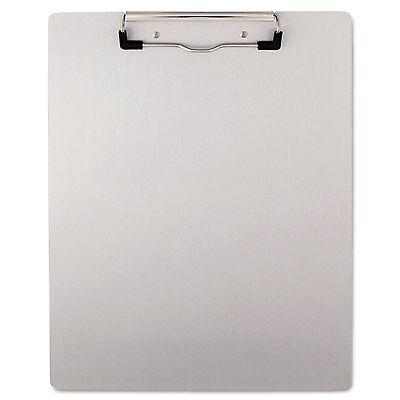 Universal Plastic Brushed Aluminum Clipboard Portrait 12 Capacity 8 12 X 11
