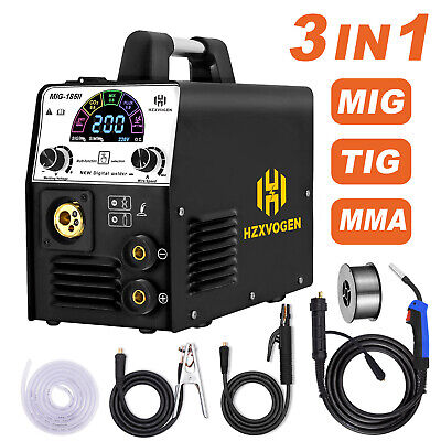 Hzxvogen 3in1 160a Mig Welder 220v Lcd Display Mma Arc Lift Tig Welding Machine