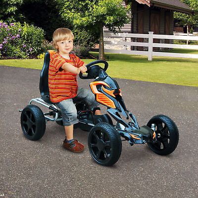 HOMCOM Pedal Go Cart Ride-on Kids Children Outdoor Fun Games EVA Wheels Safe