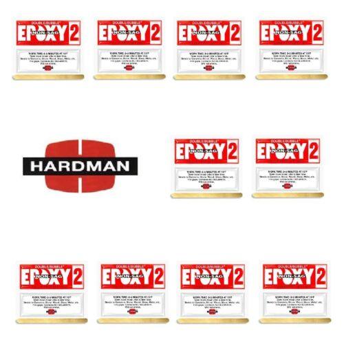 Red 2 Non Sag 3.5g Double Bubble Epoxy Ten Packs Super Fast Set Hardman 04008