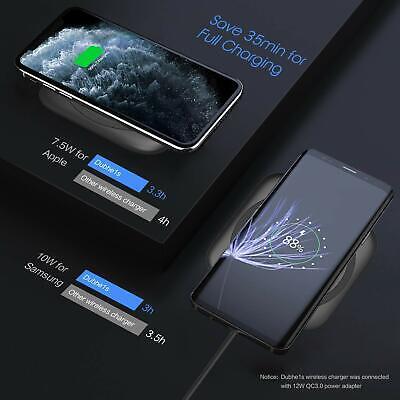 Chargeur sans Fil 10W  Induction Charger Rapide Universel smartphone noir  LED