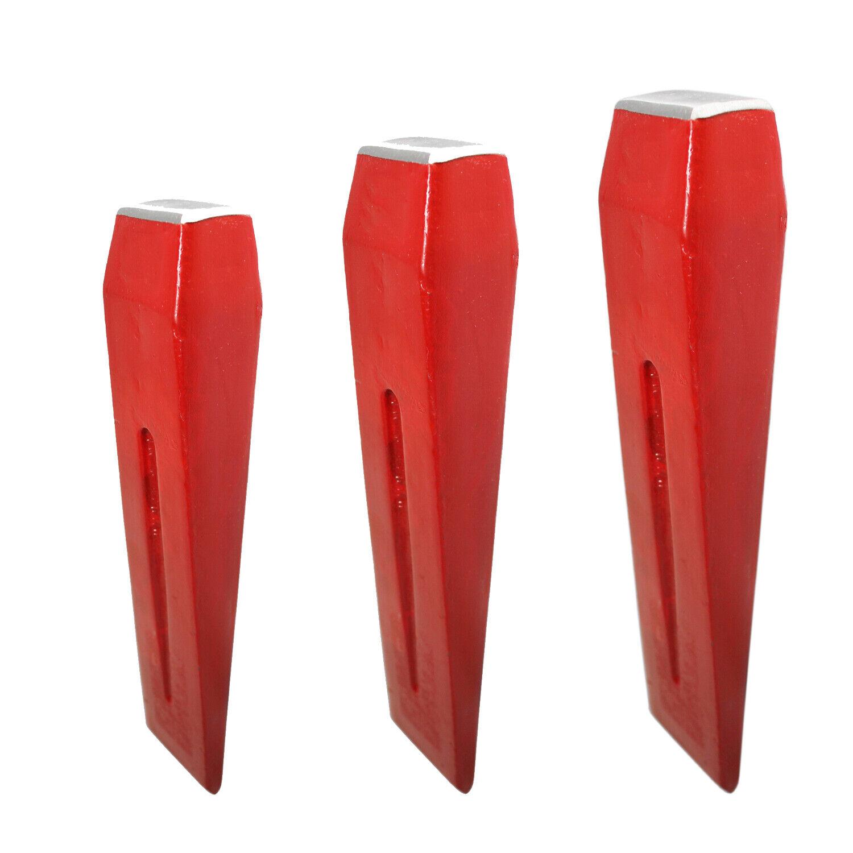 3 Spaltkeile aus Stahl Set 1,5-2-3kg, Fällkeil Scheitkeil Nachsetzkeil Treibkeil