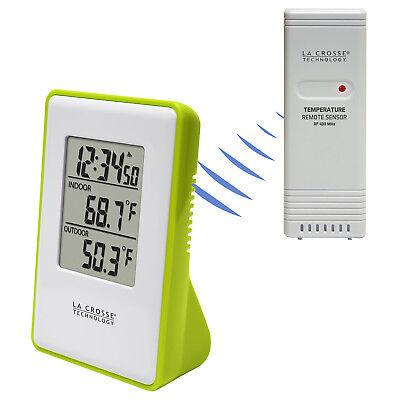 308-1910G La Crosse Technology Wireless Thermometer Weather Station TX191 Green