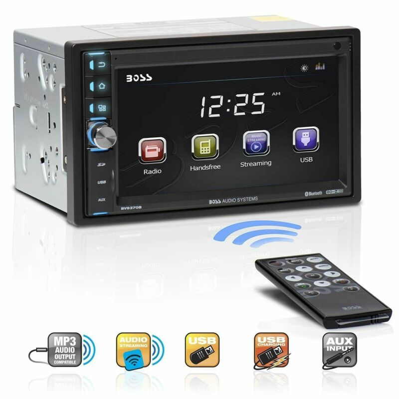 """Boss Double-DIN 6.5"""" Touchscreen Monitor Bluetooth Car MP3 Player Stereo BV9370B"""