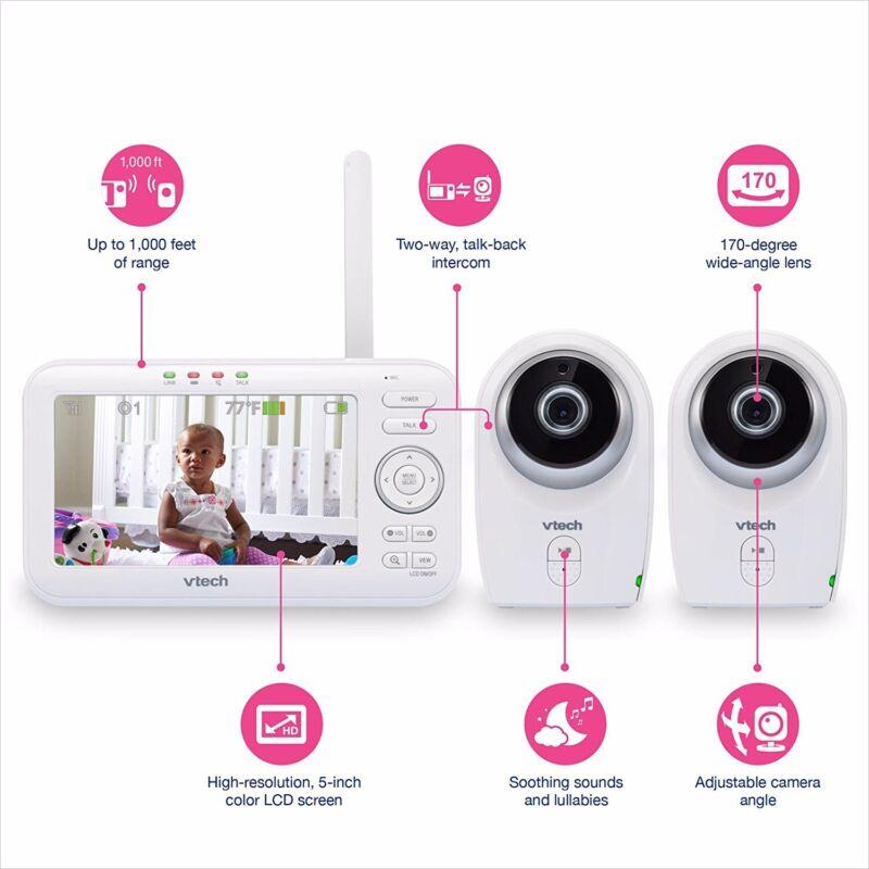 vtech baby monitor 2 cameras model VM351-2