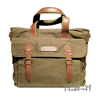 Timberland M3321 EK™ Herrentasche Lyndon Canvas Tote Bag Oliv CottonTwill Neu