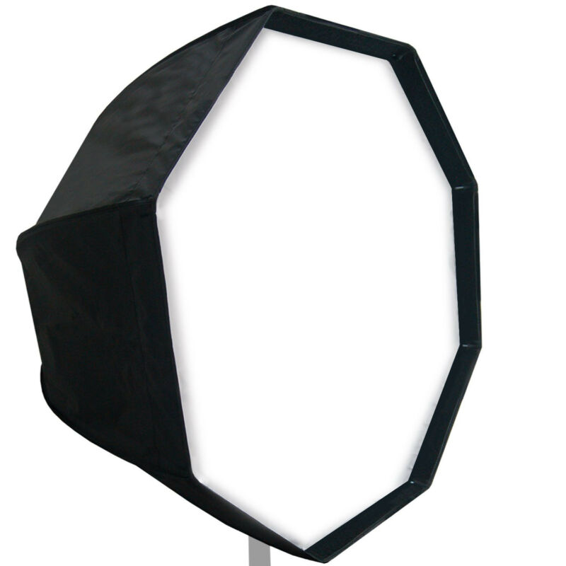 "32"" Diameter Octagon Umbrella Softbox Reflector w/ Diffuser Cover and Carry Bag"
