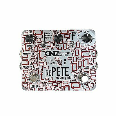 CNZ Audio Re-Pete Stereo Looper Guitar Effects Pedal, True Bypass