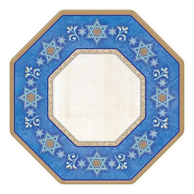 8 x Hanukkah Paper Plates 18cm Hanukkah Party Supplies Judaic Traditions (Hanukkah Supplies)