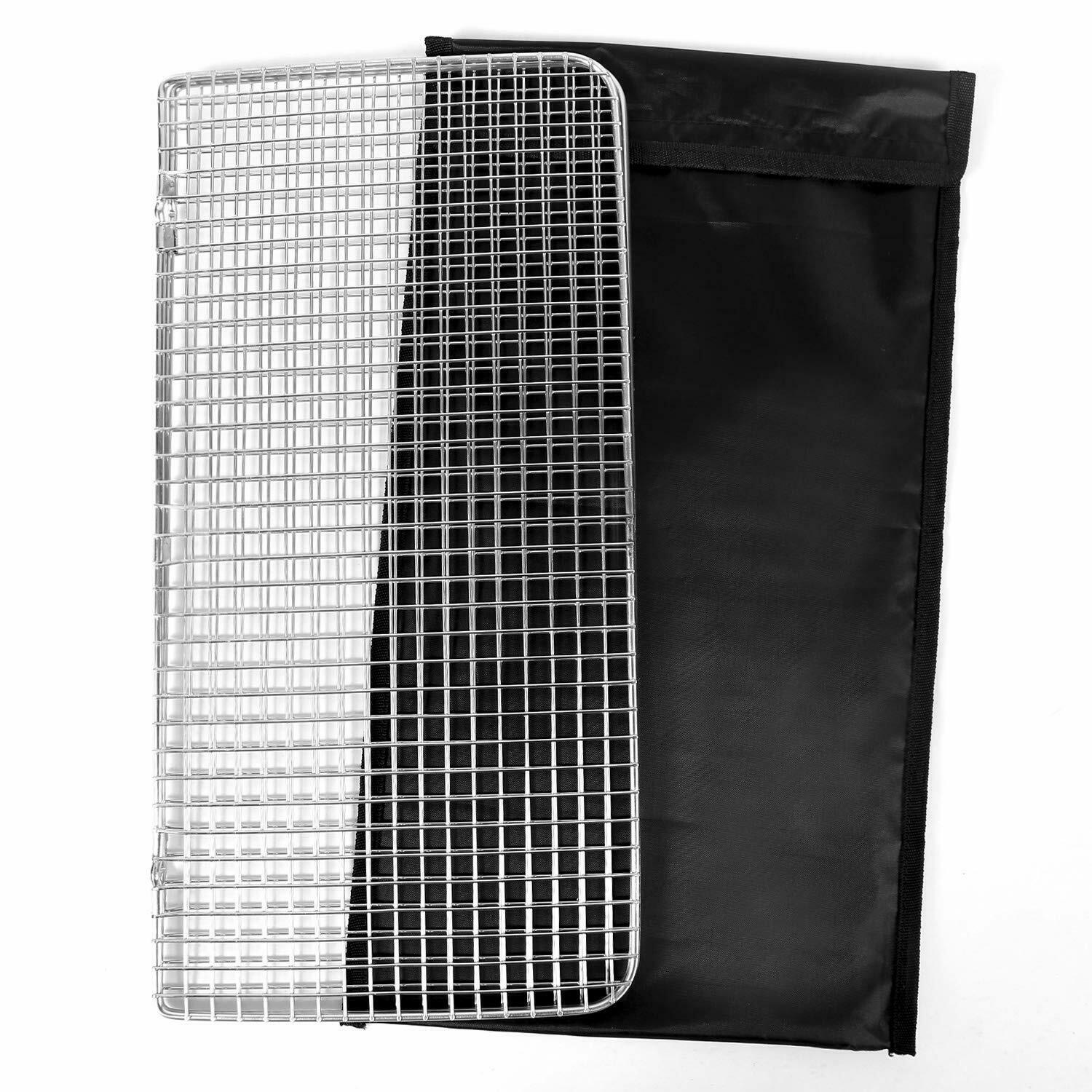 REDCAMP Folding Mesh Camping BBQ Grill Grate Stainless Steel
