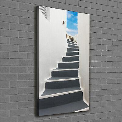 Leinwand-Bild Kunstdruck Hochformat 60x120 Bilder Santorini Griechenland