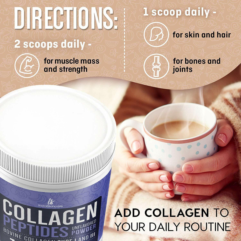 ❤Premium Collagen Peptides Powder Hydrolyzed Anti-Aging Protein 1 LB 4