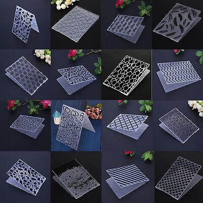 Plastic Embossing Folder Template DIY Scrapbook Album Paper Card Craft - Paper Embossing