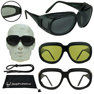 Motorradbrille That Passt über Abdeckung Brillen Gelb Durchsichtig Dunkel