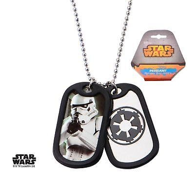 STAR WARS STORMTROOPER GALACTIC EMPIRE DOG TAG PENDANT CHAIN NECKLACE