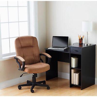 Student Desk Computer Home Office Workstation Study Table Dorm Wood Modern Black