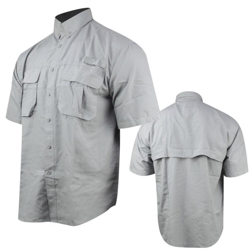 Itasca Canyon Creek Performance S/S Fishing Shirt (L)- Grey