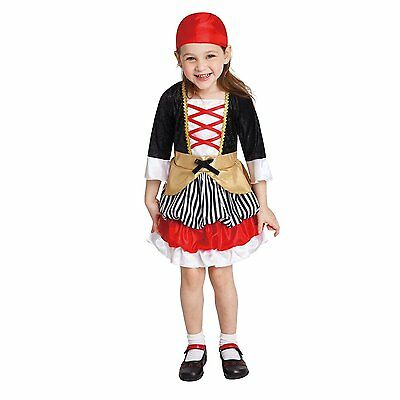 Lil' Pirate Buccaneer Halloween Costume Size Infant/Toddler 2-4 Years - Infant/toddler Pirate Halloween Costumes