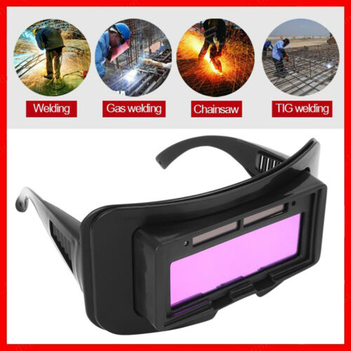 Solar Powered Eyes Goggle Auto Darkening for Welding Glasses Helmet Mask Welder