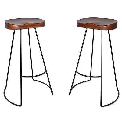 Carolina Chair Wood - Carolina Chair & Table Brera 31-Inch Wood Seat Tractor Stool, Chestnut/ Black