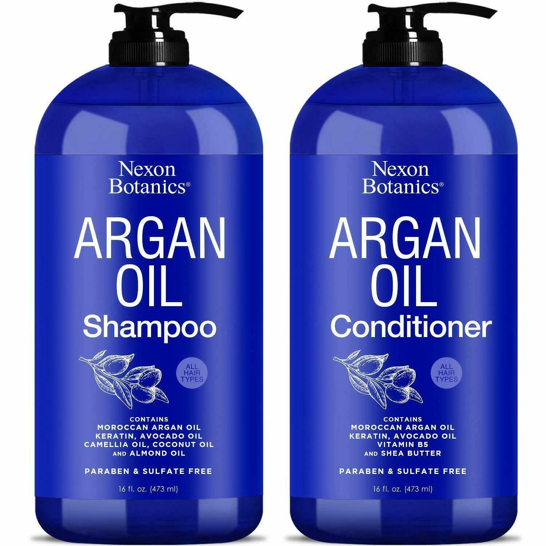 Nexon Botanics Argan Oil Shampoo Conditioner Set 16 oz each