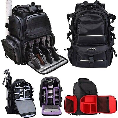 Waterproof Large Camera Backpack Shoulder Bag DSLR/SLR/TLR Tripod Filter Pack