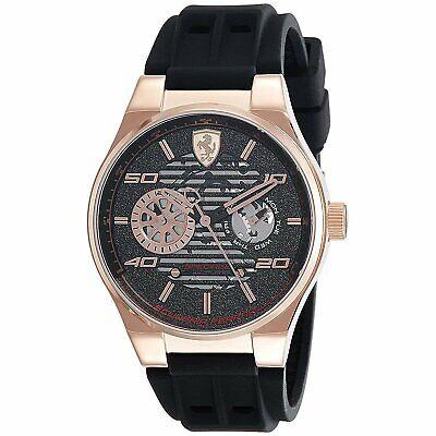Ferrari 830458 Speciale 44MM Men's Black Silicone Watch
