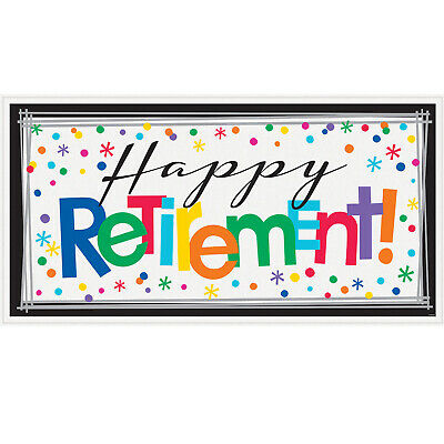 Large Happy Retirement Party Bunting Banner Decoration Retirement Party Supplies