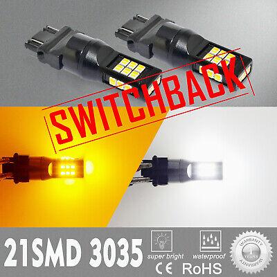LED Front Switchback Turn Signal Light Bulb For 2003-06 Chevrolet Silverado -