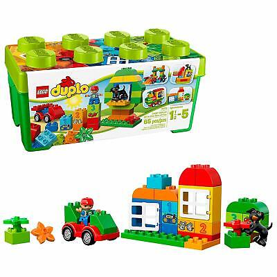 NEW LEGO DUPLO All In One Box Fun 65Pc Open Ended Large Bricks Figures 10572