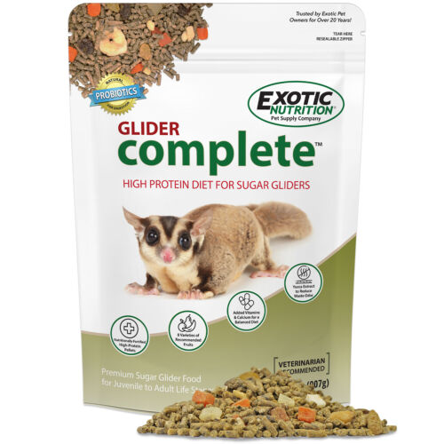 Glider Complete (2 lb.) - All Natural High Protein Healthy Sugar Glider Food