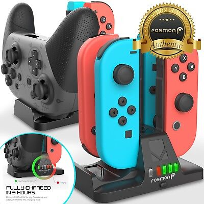 4in1 Nintendo Switch Pro Joy Con Joycon Controller Charger Charging Dock Station