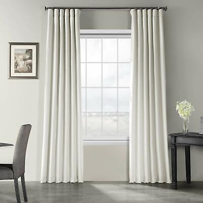 Exclusive Vintage Textured Faux Dupioni Silk Curtain 50 x 120 Mist Grey Textured Silk Curtain