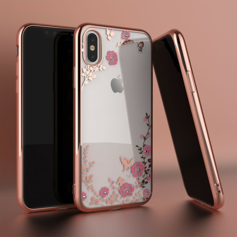 For Iphone Xs Max Xr Xs Luxury Hybrid Crystal Bling Tpu Clear Case