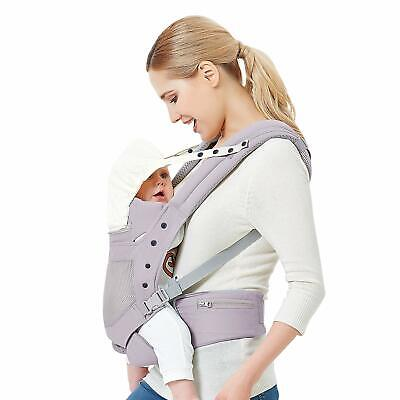 Baby Carrier with Adjustable Hip Seat,Baby Wrap Carrier with Hood, Soft & Breath for sale  Shipping to South Africa